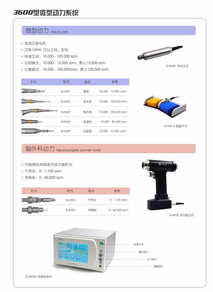 BJ3600 微型医用磨钻